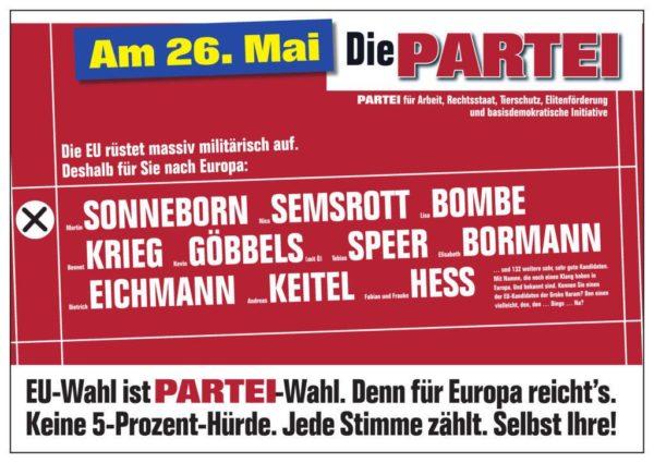 Danke An Unsere 1923 Wähler Bei Der Europawahl 2019